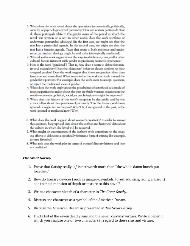 Great Gatsby thesis Statement Examples Beautiful Critical Essays On the Great Gatsby Critical Essay On