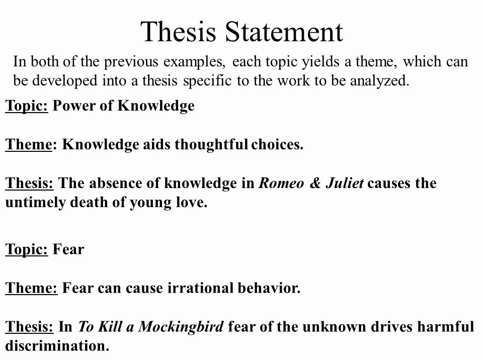 Great Gatsby thesis Statement Examples Unique thesis Statement Ppt Video Online