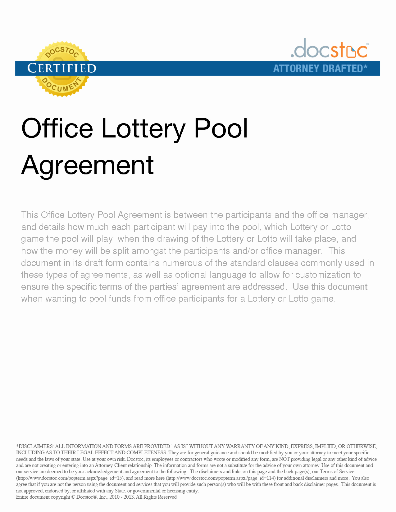 Group Lottery Contract Fresh Lottery Pool Contract Free Printable Documents