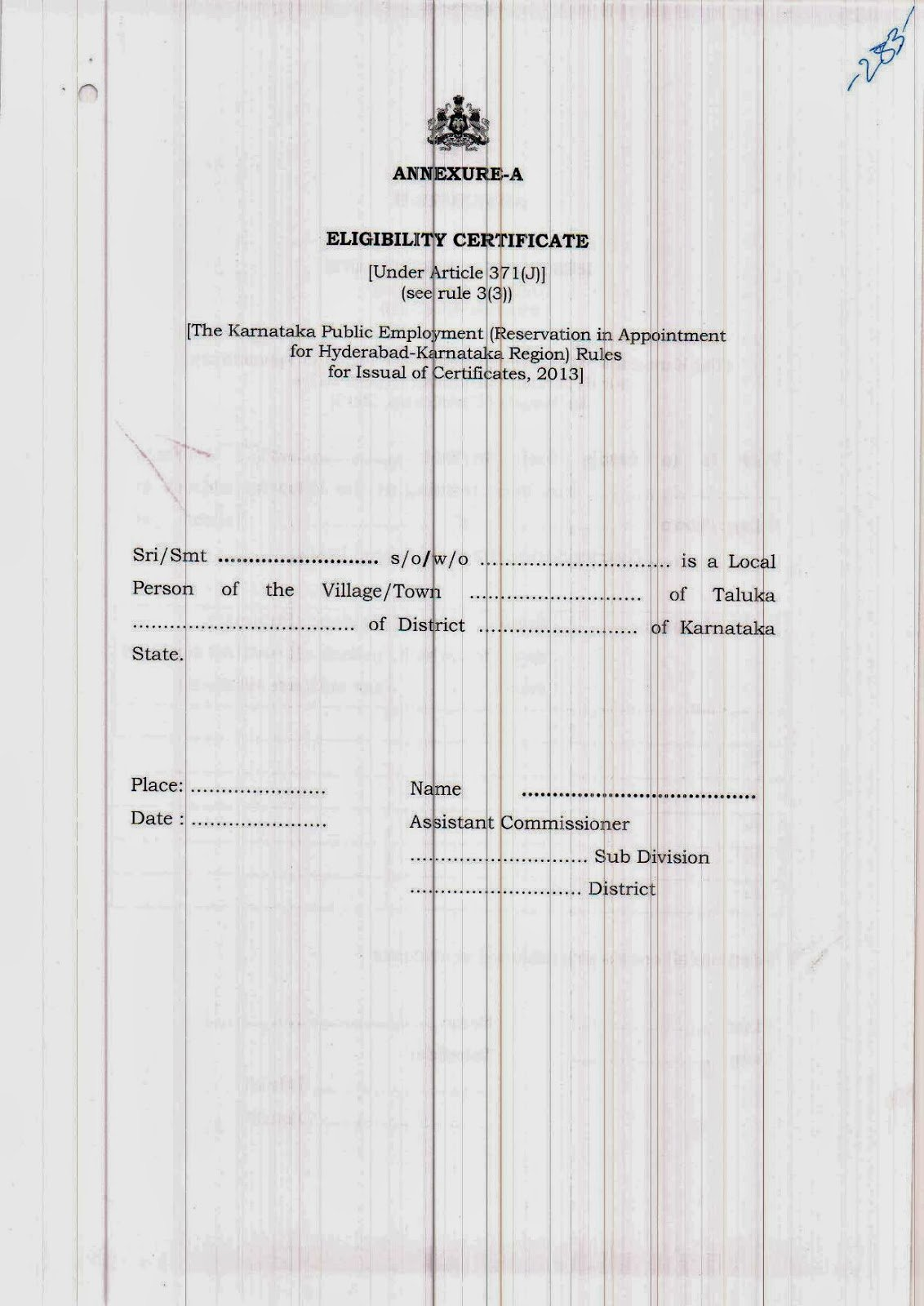 Guatemala Birth Certificate Translation Template Luxury Hyderabad Karnataka Final Rules for Domocile
