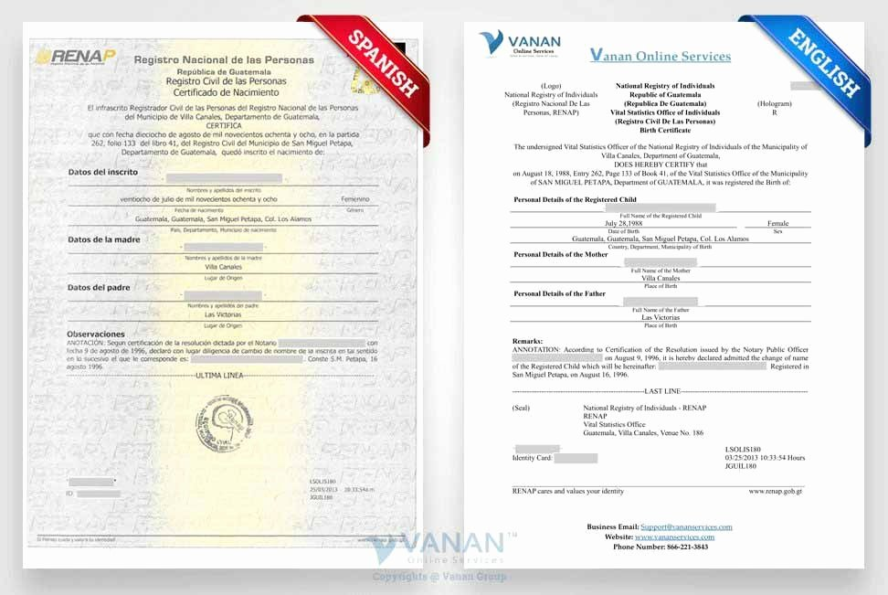 Guatemala Birth Certificate Translation Template Unique Best Certified Translation Services In London 24 7
