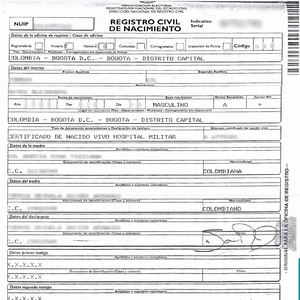 Guatemala Birth Certificate Translation Template Unique Honduras Birth Certificate Translation Pdf
