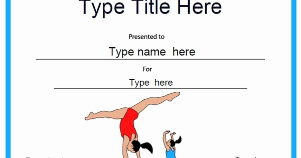 Gymnastics Gift Certificate Template Awesome Sports Certificate Gymnastic Template