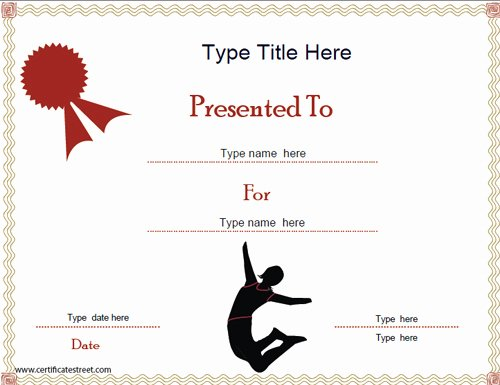 Gymnastics Gift Certificate Template Fresh Certificate Street Free Award Certificate Templates No