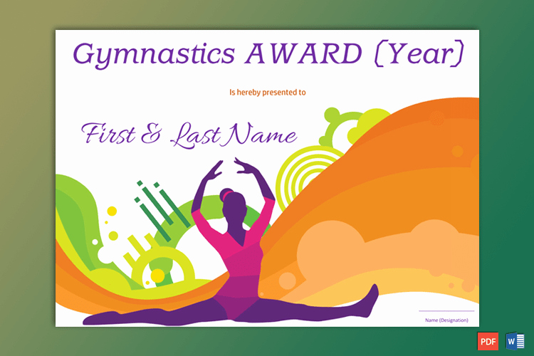 Gymnastics Gift Certificate Template Inspirational Gymnastic Award Certificate Pdf & Word Gct