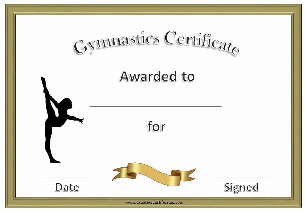 Gymnastics Gift Certificate Template Lovely Free Printable Gymnastics Awards