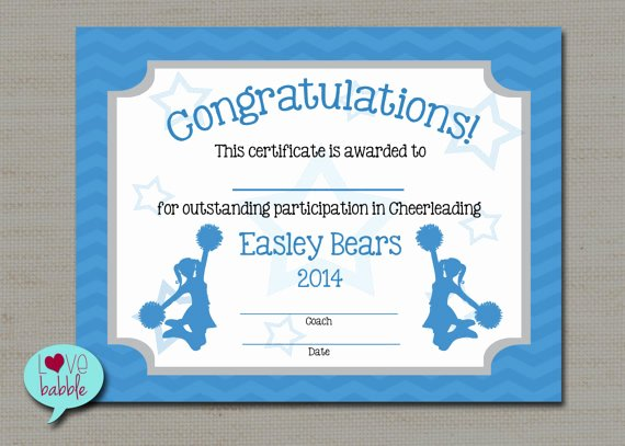 Gymnastics Gift Certificate Template Luxury Cheerleading Cheer Award Certificate Dance Gymnastics