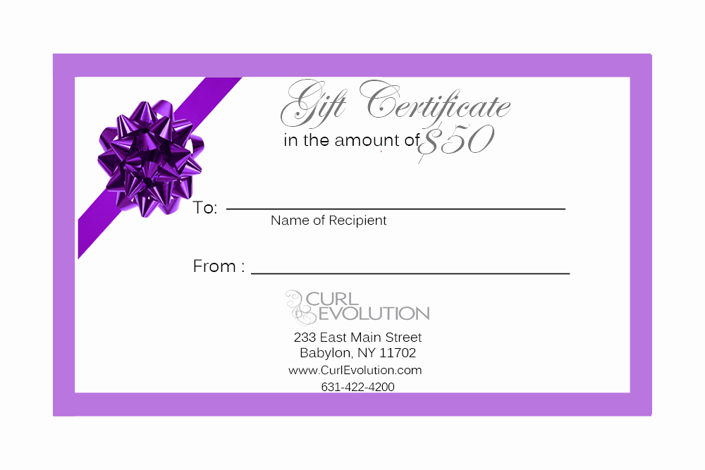 Hair Salon Gift Certificate Template Elegant Gift Certificate