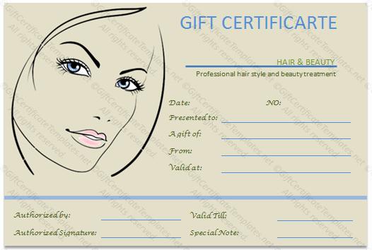 Hair Salon Gift Certificate Template Free Beautiful the Simple Beauty Spa Gift Certificate Template