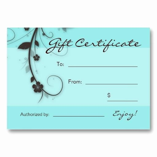 Hair Salon Gift Certificate Template Free Best Of 25 Best Gift Certificate Templates Images On Pinterest