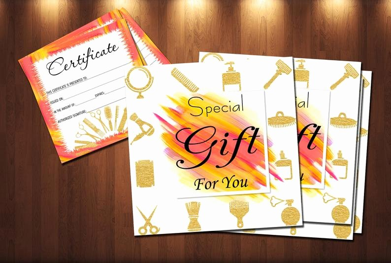 Hair Salon Gift Certificate Template Free Best Of Hair Stylist Gift Certificate Template Salon Beauty T