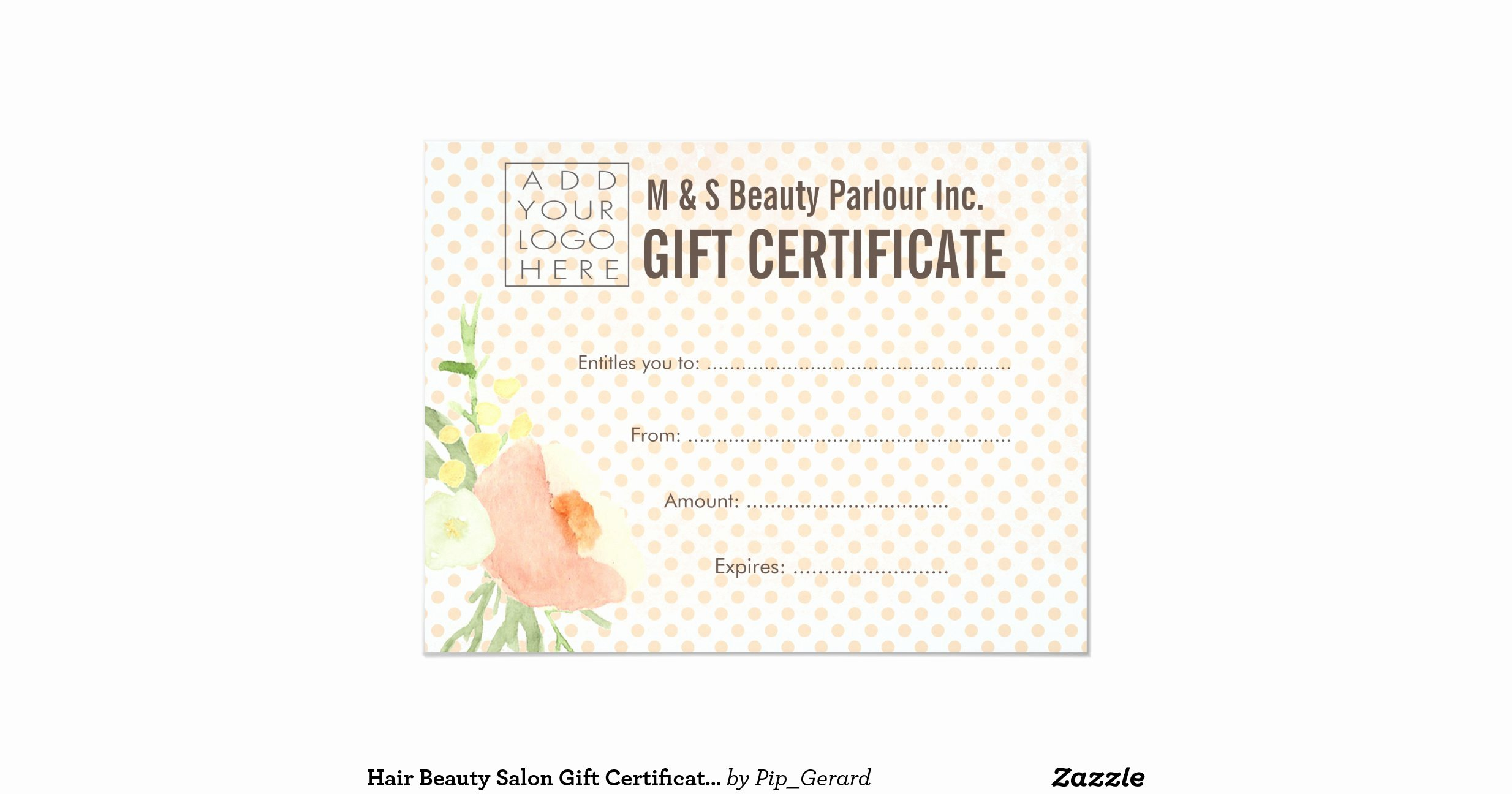Hair Salon Gift Certificate Template Free Fresh Hair Beauty Salon Gift Certificate Template 11 Cm X 14 Cm