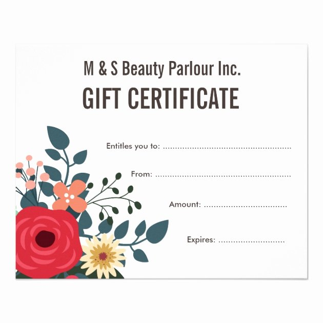 Hair Salon Gift Certificate Template Free Inspirational Hair Beauty Salon Gift Certificate Template Flyer