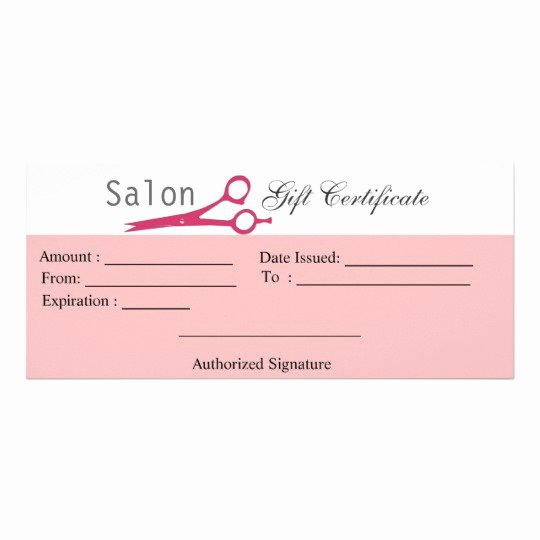 Hair Salon Gift Certificate Template Free Luxury Salon Hair Stylist Cosmetologist Gift Certificate
