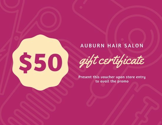 Hair Salon Gift Certificate Template Free Unique orange and White Hair Salon Gift Certificate Templates