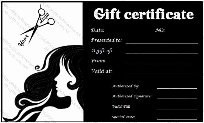 Hair Salon Gift Certificate Template Lovely Gift Voucher Templates Gift Certificate Templates