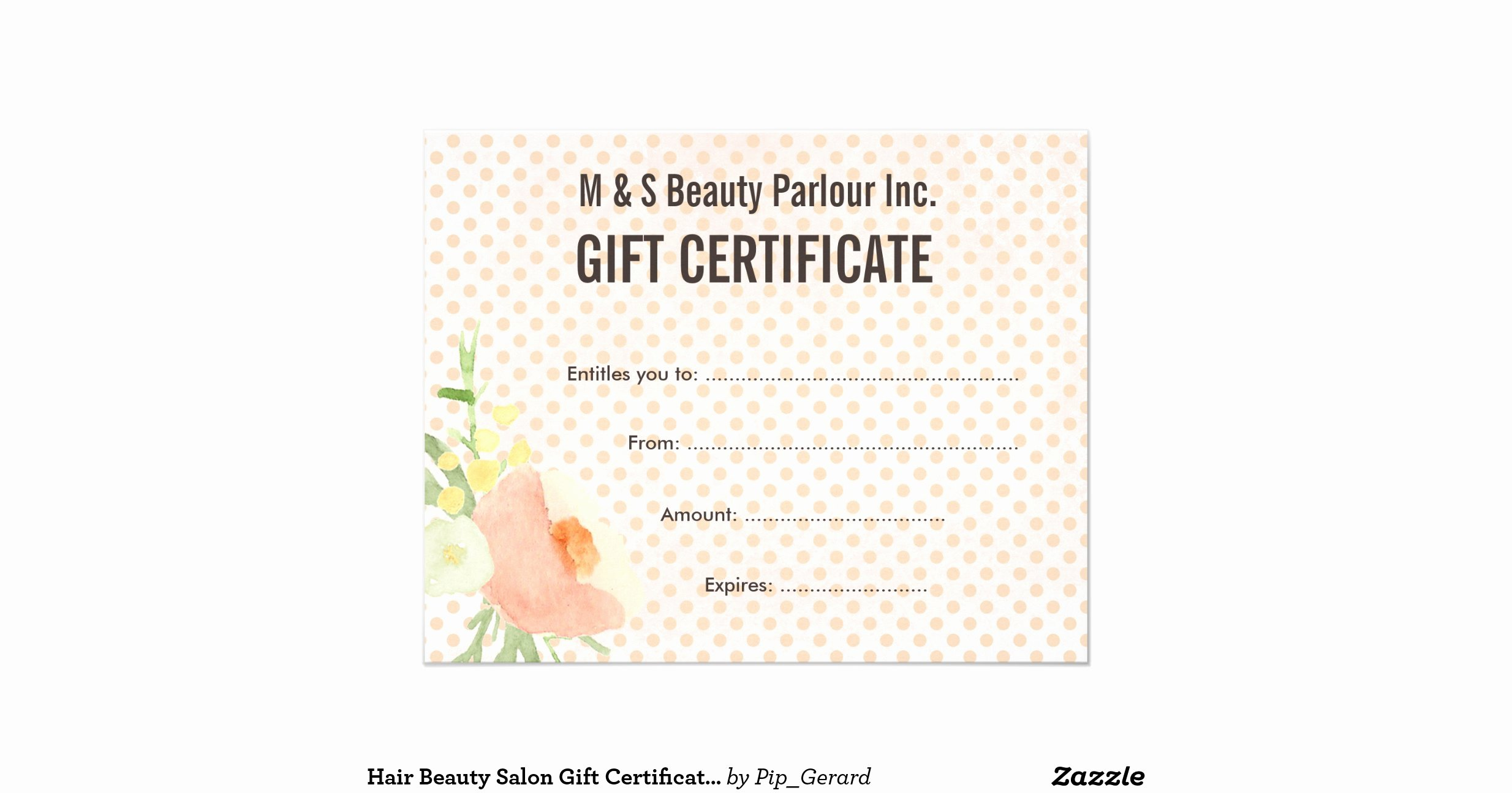 hair beauty salon t certificate template flyer