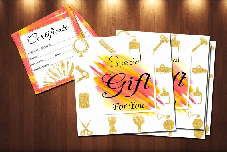 Hair Salon Gift Certificate Template Luxury Hair Stylist Gift Certificate Template Salon Beauty T