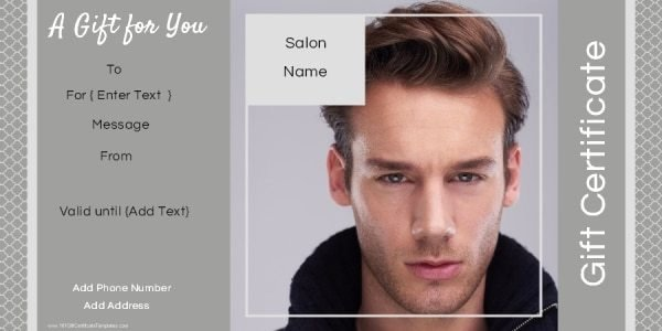 Hair Stylist Gift Certificate Template Best Of Gift Certificate Templates for A Hair Salon