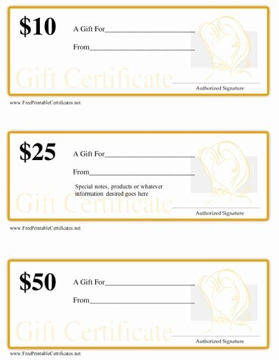 Hair Stylist Gift Certificate Template Fresh Printable T Certificates for A Hair Salon or Stylist
