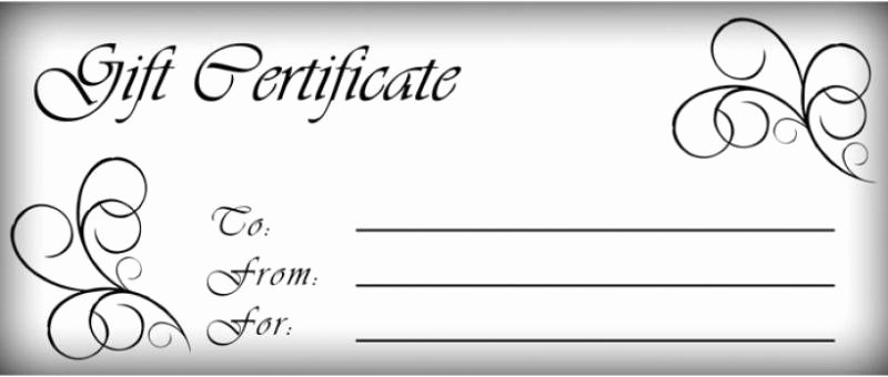 Hair Stylist Gift Certificate Template Lovely Printable Gift Certificates Hair Salon
