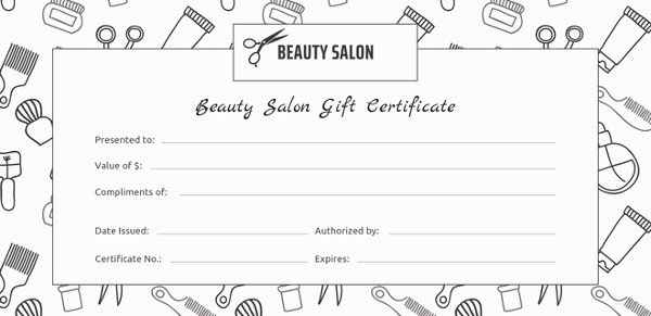 Hair Stylist Gift Certificate Template Unique 155 Gift Certificate Templates – Free Sample Example