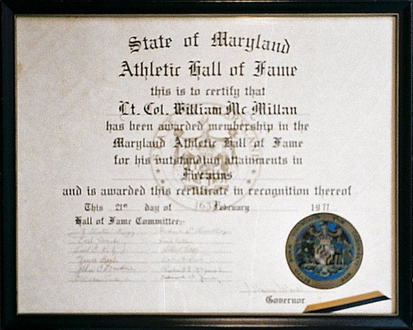Hall Of Fame Certificate Best Of Maryland athletic Hall Of Fame