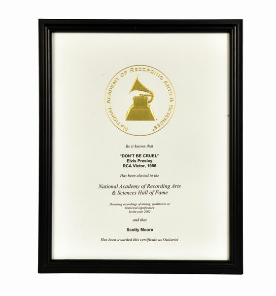 Hall Of Fame Certificate Fresh Lot Detail Scotty Moore's Grammy Hall Of Fame Awards for