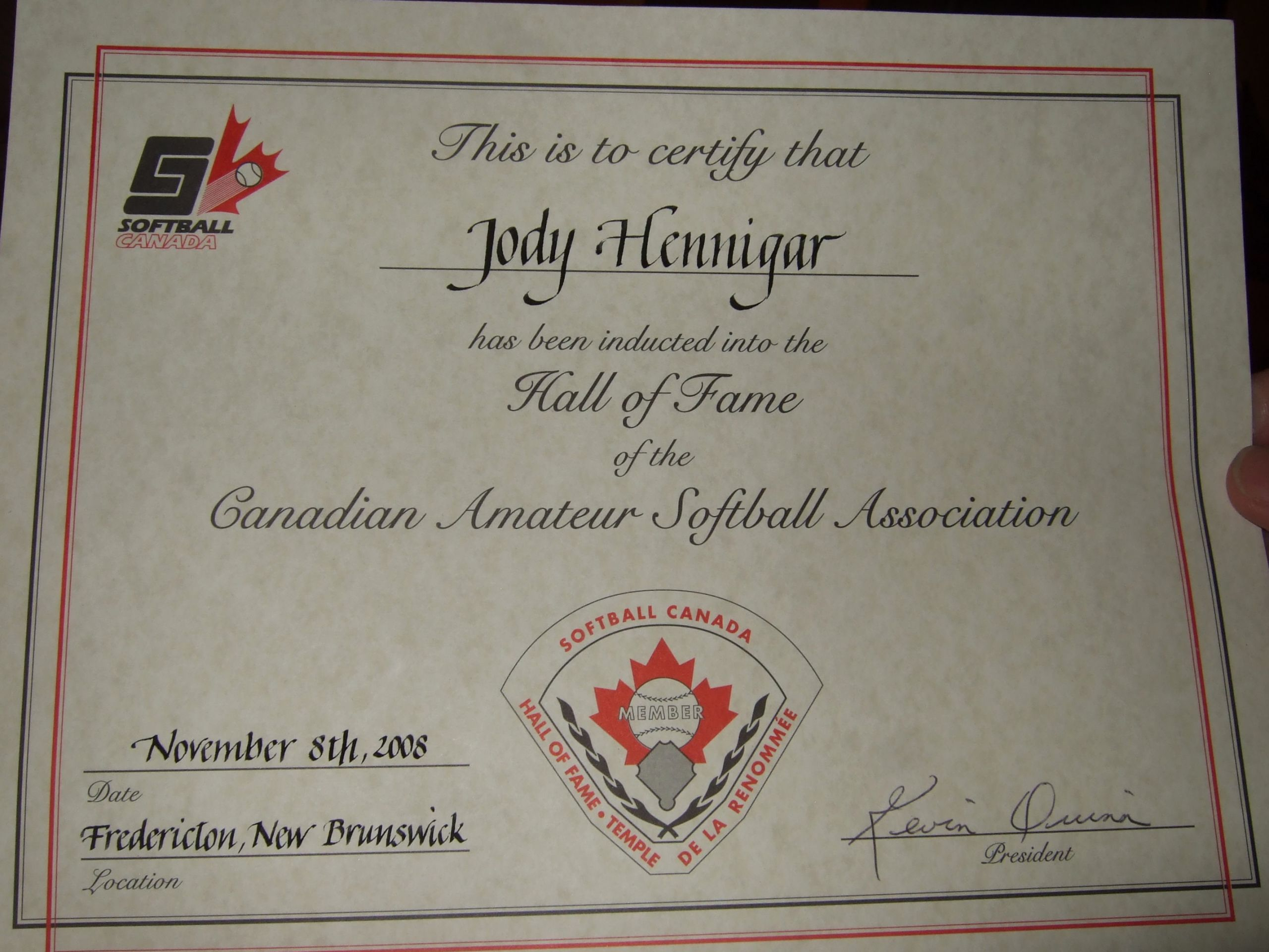 Hall Of Fame Certificate Lovely toronto Gators