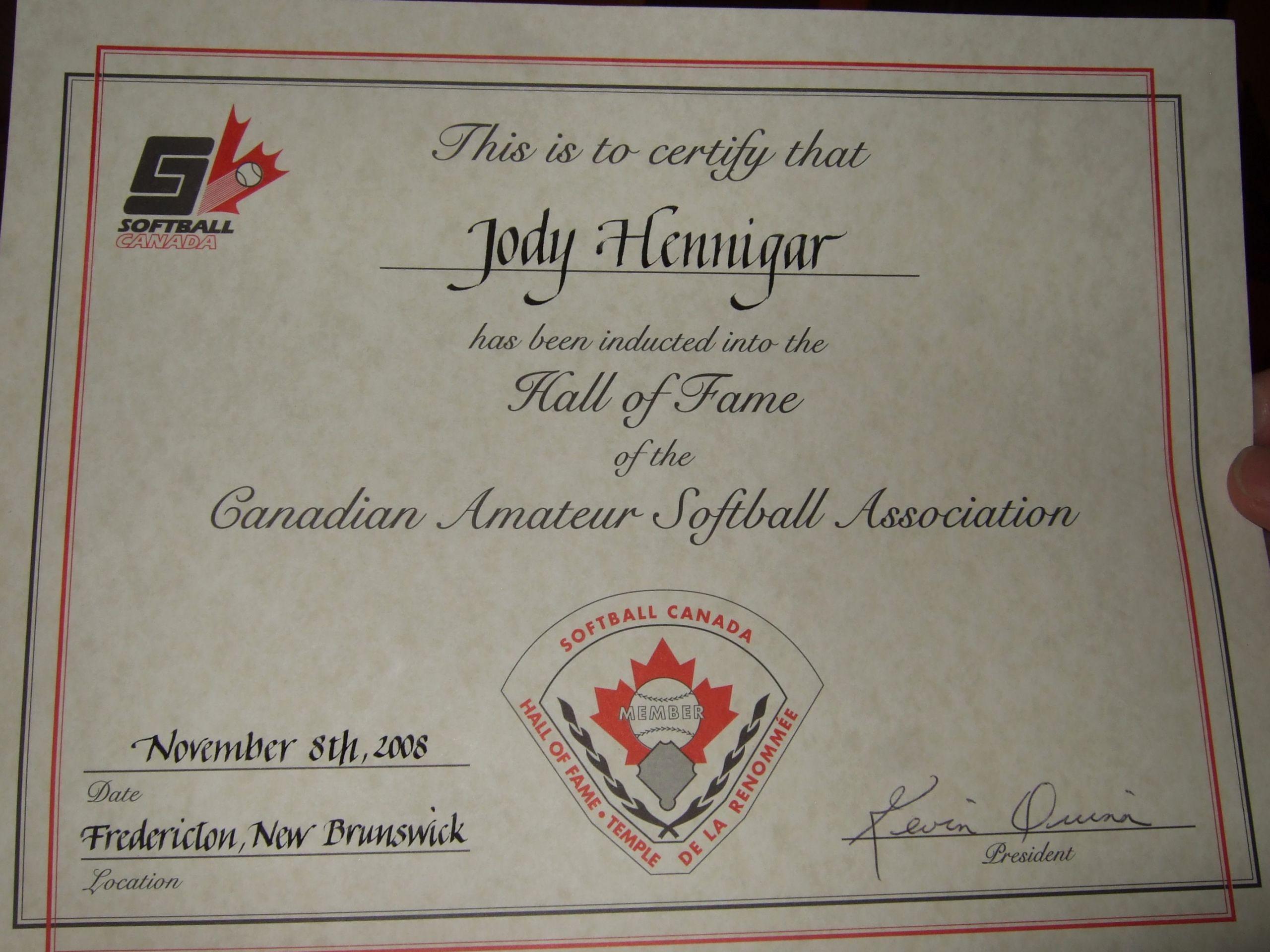 Hall Of Fame Certificate Lovely toronto Gators