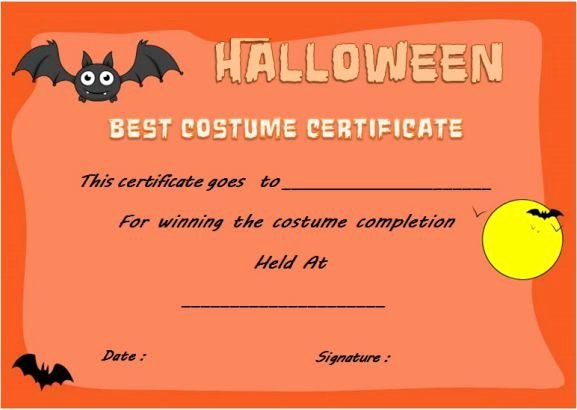 Halloween Costume Certificate Template Beautiful 21 Best Halloween Costume Certificate Templates Images On