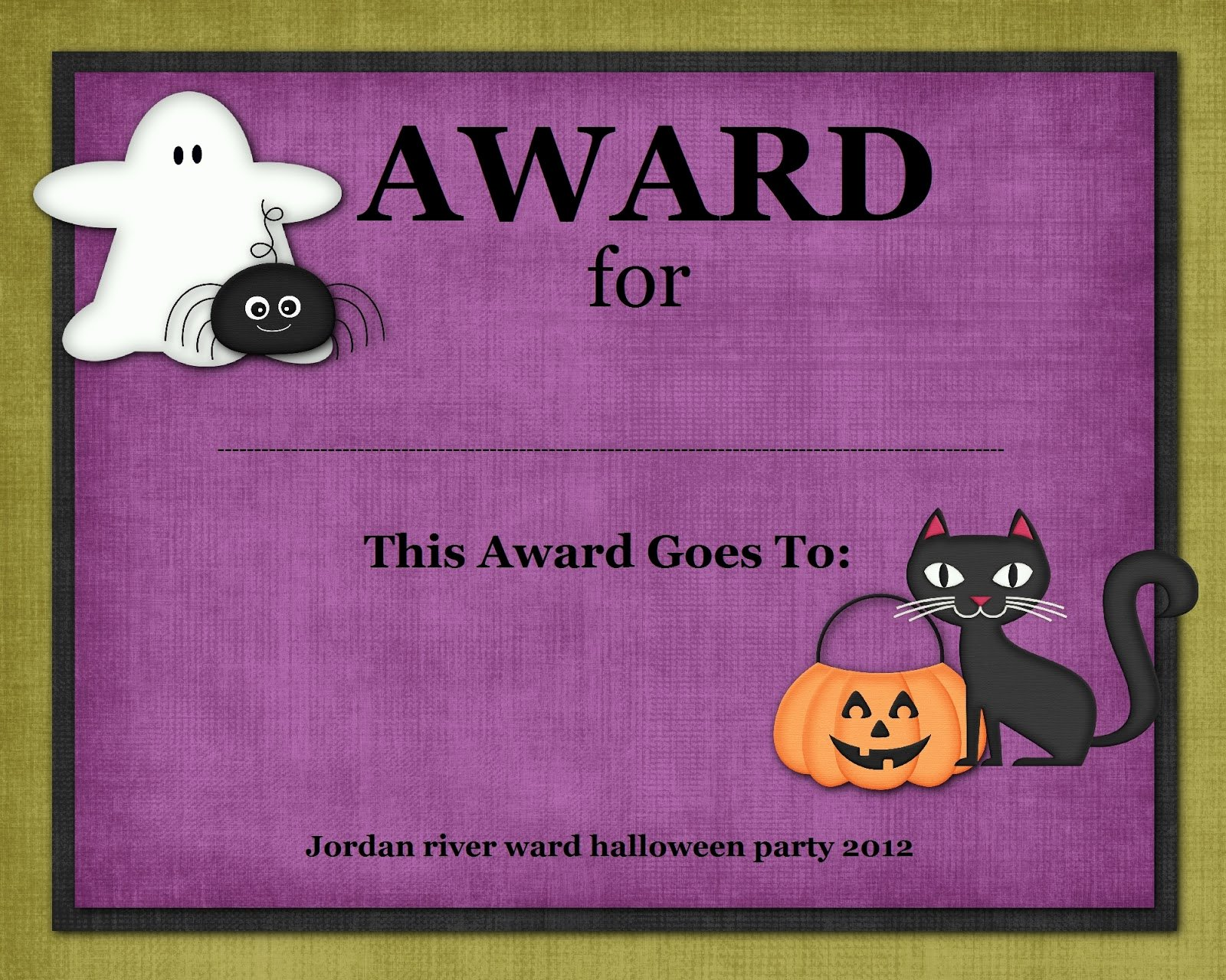 Halloween Costume Certificate Template Inspirational Digital Designs Scrapbooking Halloween Costume Contest Awards