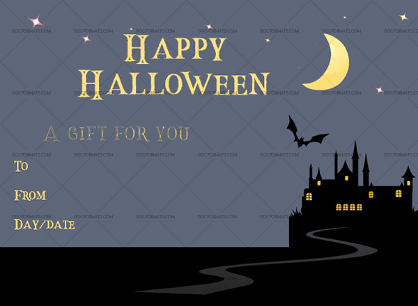 Halloween Gift Certificate Template Inspirational Halloween Gift Certificate Templates In Word & Pdf
