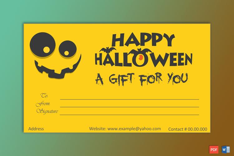 Halloween Gift Certificate Template Lovely Halloween Gift Certificate Template Gct
