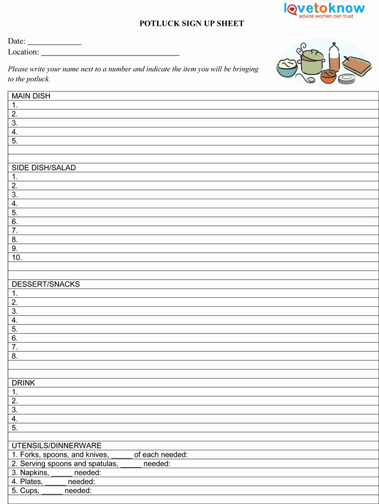 Halloween Potluck Signup Sheet Luxury Potluck Sign Up Sheet Template Pdf 750×997