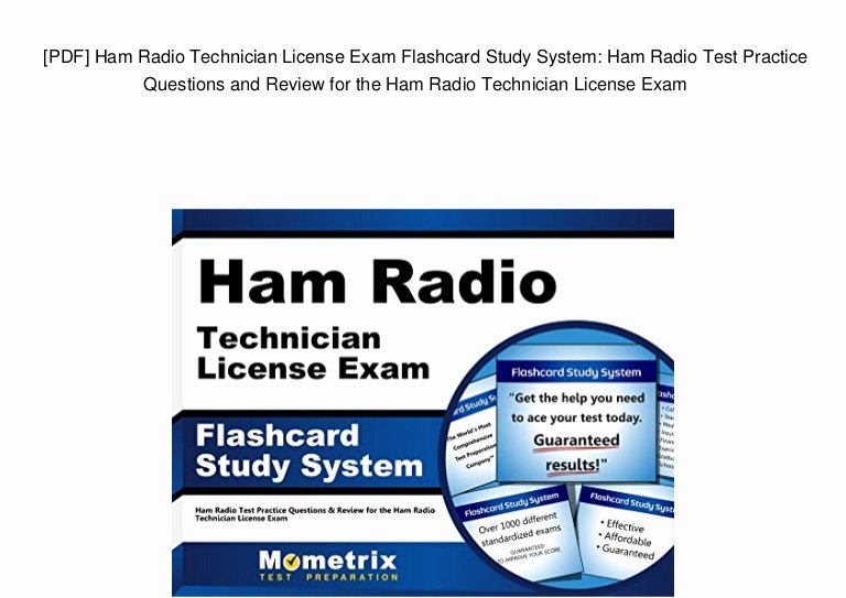 Ham Radio Certificate Maker Best Of [pdf] Ham Radio Technician License Exam Flashcard Study