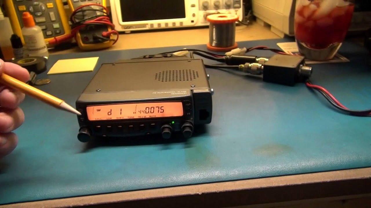 "Ham Radio Certificate Maker Lovely Kenwood Tm 733 Ham Radio Repair ""lcd Back Light"" Part 1"