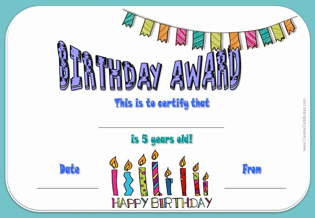 Happy Birthday Certificate Template Awesome Free Happy Birthday Certificate Template Customize Line