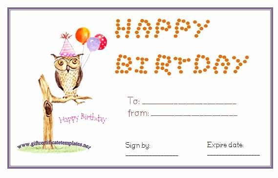 Happy Birthday Certificate Template Best Of Owl Birthday T Certificate Template Pinned by