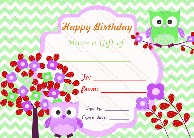 Happy Birthday Certificate Template Elegant Birthday Bumps Gift Certificate Template