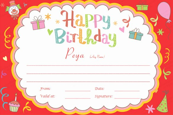 Happy Birthday Certificate Template Fresh 23 Birthday Certificate Templates Psd Eps In Design