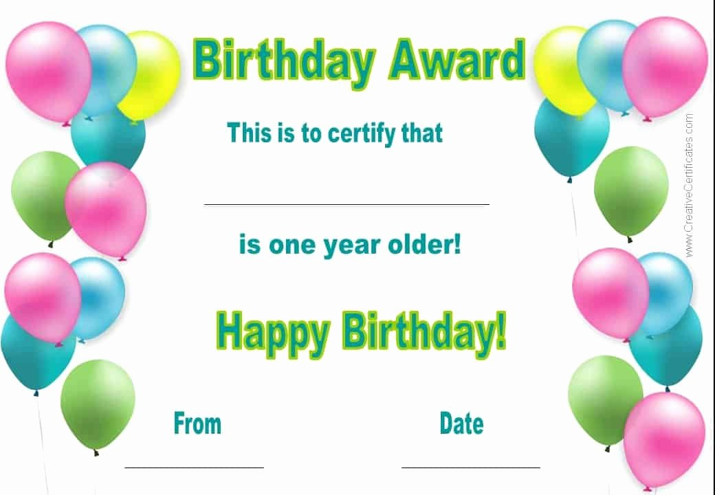 Happy Birthday Certificate Template Fresh Free Happy Birthday Certificate Template Customize Line