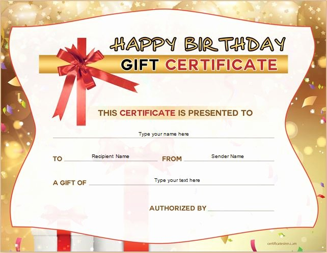 Happy Birthday Certificate Template Luxury Birthday Gift Certificate Sample Templates for Word