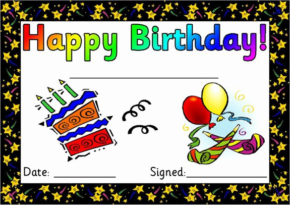 Happy Birthday Certificate Template New Printable Birthday Certificates Template