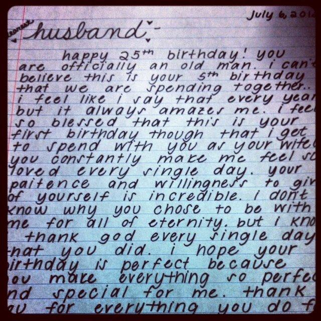 Happy Birthday to My Husband Letter Fresh Happy Birthday to My Husband Letter