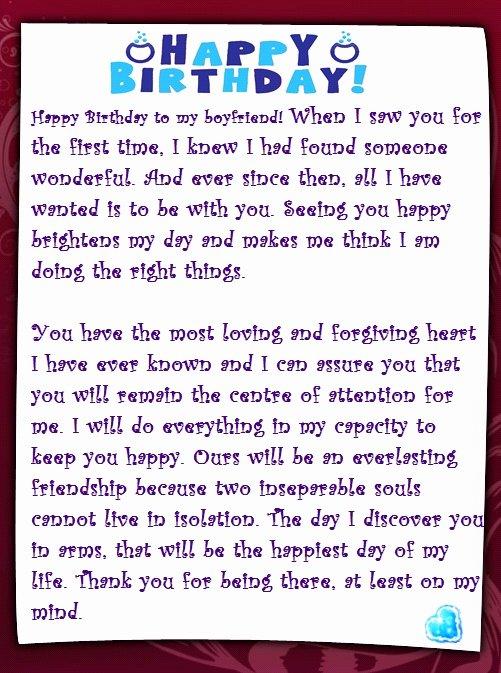 Happy Birthday to My Husband Letter Inspirational A Sweet Happy Birthday Letter to My Boyfriend