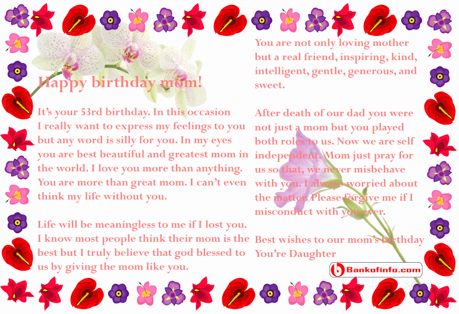Happy Birthday to My Husband Letter Luxury Birthday Letter to Mom From Daughter Letter