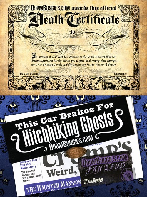 Haunted Mansion Death Certificate Template Inspirational Doombuggies Presents the Haunted Mansion Death Certificate