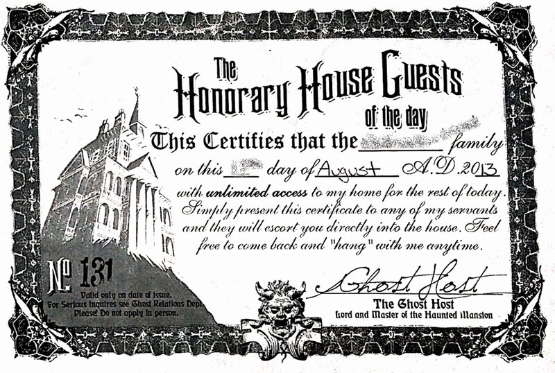 Haunted Mansion Death Certificate Template Lovely Honorary House Guests Haunted Mansion Micechat