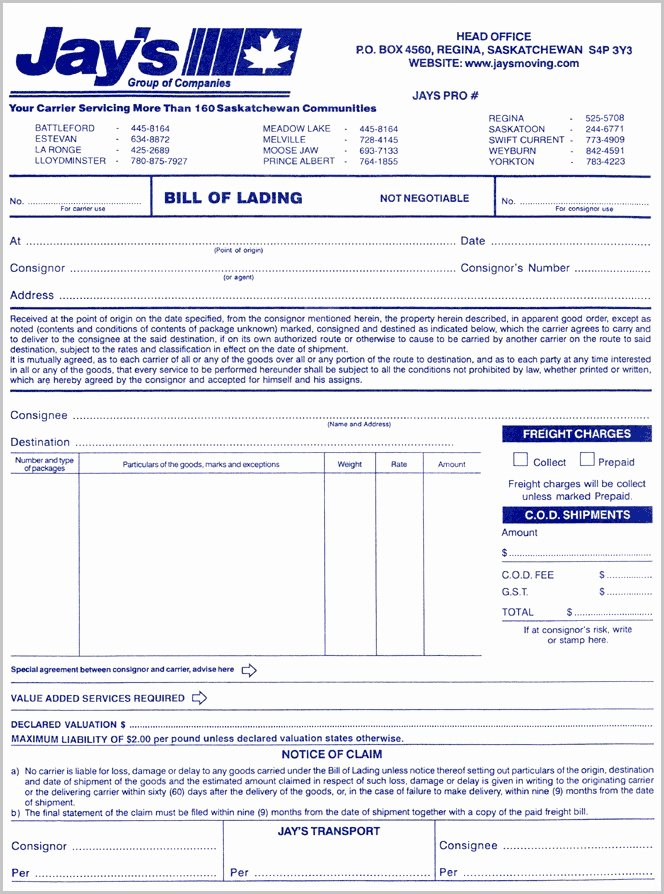Hazmat Bill Of Lading Template Awesome Bill Lading form Malaysia Template Resume Examples
